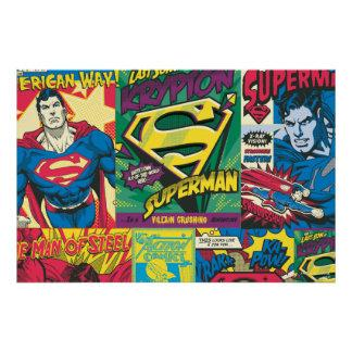 Superman Comic Panels Poster Zazzle_print