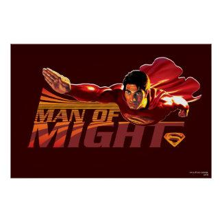 Superman Man of Might Posters Zazzle_print