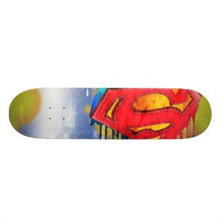 Superman Urban Spraypaint Skate Deck