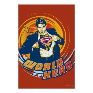 Superman World Hero Poster Zazzle_print