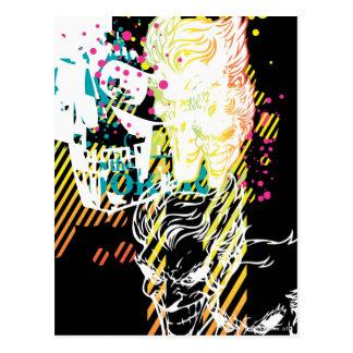 The Joker Neon Montage Postcard Zazzle_postcard