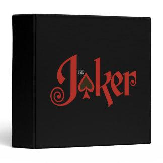 The Joker Playing Card Logo 3 Ring Binders Zazzle_binder