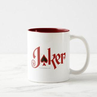 The Joker Playing Card Logo Two-Tone Coffee Mug Zazzle_mug