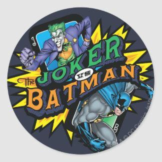 The Joker Vs Batman Round Stickers Zazzle_sticker