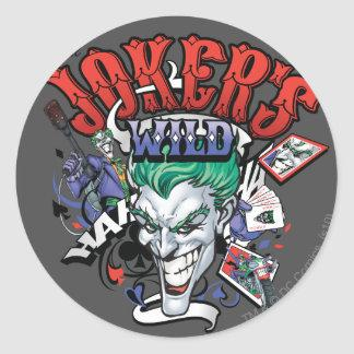 The Joker's Wild Classic Round Sticker