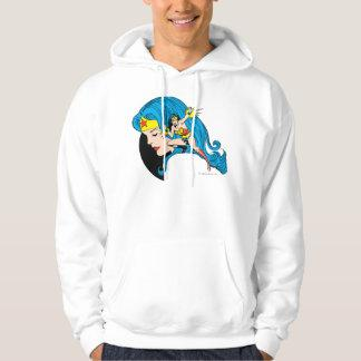 Wonder Woman Profile Background Sweatshirt Zazzle_shirt