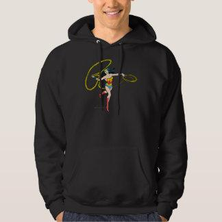 Wonder Woman Swinging Lasso Hooded Pullover Zazzle_shirt