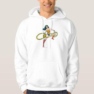 Wonder Woman Swinging Lasso Right Hooded Pullover Zazzle_shirt