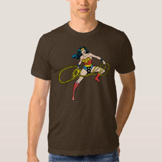 Wonder Woman Swinging Lasso Right T-shirt Zazzle_shirt