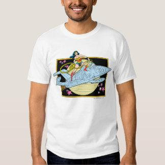 Wonder Woman with Jet T-shirt Zazzle_shirt